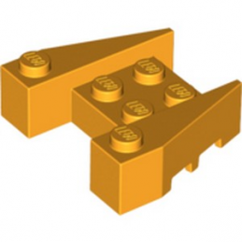 LEGO 6015235 BRIQUE 4X4/18° - FLAME YELLOWISH ORANGE