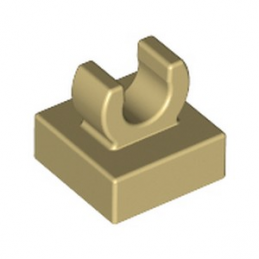 LEGO 6252969 PLATE 1X1 W. UP RIGHT HOLDER - BEIGE