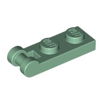 LEGO 6258387 PLATE 1X2 W/SHAFT Ø3.2 - SAND GREEN