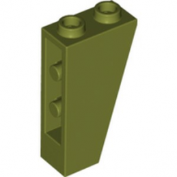 LEGO 6259361 TUILE 1X2X3/74° INV. - OLIVE GREEN
