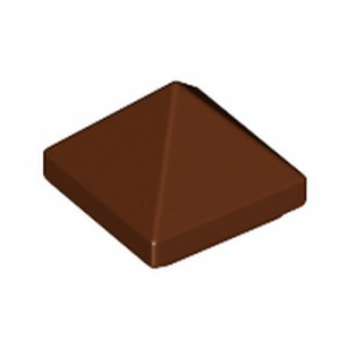 LEGO 6256734 TUILE PYRAMIDE 1X1X2/3  - REDDISH BROWN
