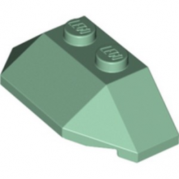 LEGO 6256462 ROOF TILE 4X2 W. ANGL./SL.BOT. - SAND GREEN