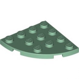 LEGO 6258320 PLATE 4X4, 1/4 CIRCLE - SAND GREEN