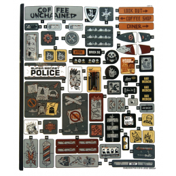 Stickers / Autocollant The Lego Movie - Apocalypseburg 70840