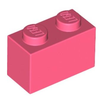 LEGO 6258572 BRIQUE 1X2 - CORAL