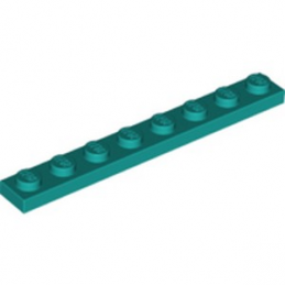 LEGO 6259921 PLATE 1X8 - BRIGHT BLUEGREEN