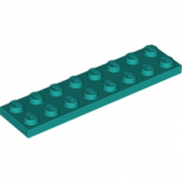 LEGO 6257063 PLATE 2X8 - BRIGHT BLUEGREEN lego-6257063-plate-2x8-bright-bluegreen ici :