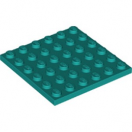 LEGO 6251830 PLATE 6X6 - BRIGHT BLUEGREEN