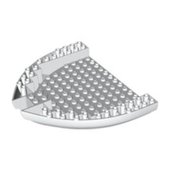 LEGO 6259782 COQUE BATEAU 16X14X21/3 Ø4.85 - BLANC