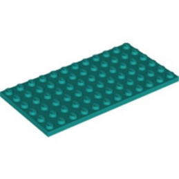LEGO 6259774 PLATE 6X12 - BRIGHT BLUEGREEN