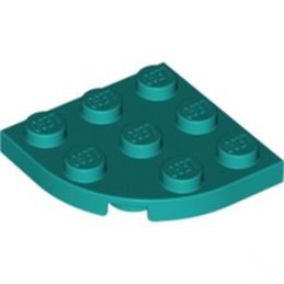 LEGO 6251838 PLATE 3X3, 1/4 CIRCLE - BRIGHT BLUEGREEN
