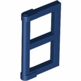 LEGO 60608 WINDOW ½ FOR FRAME 1X4X3 - EARTH BLUE
