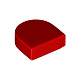 LEGO 6258973 PLATE LISSE 1x1 ½  - ROUGE