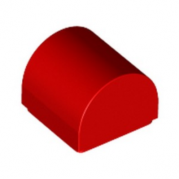 LEGO 6278441 DOME 1X1X2/3 - ROUGE