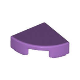 LEGO 6199893 PLATE LISSE 1/4 ROND 1X1 - MEDIUM LAVENDER
