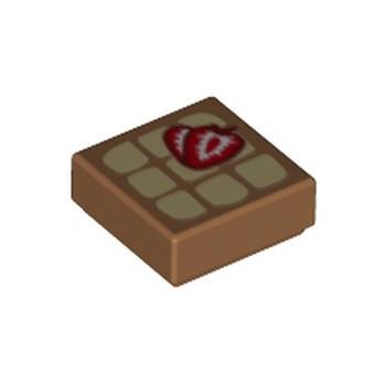 LEGO 6263022 IMPRIME 1X1 - MEDIUM NOUGAT