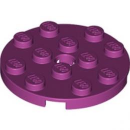 LEGO 6096210 PLATE ROND 4X4 - MAGENTA