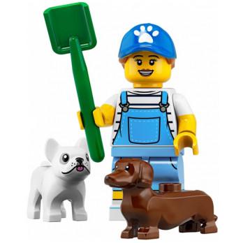 Mini Figurine LEGO® Série 19 -   la promeneuse de chien