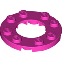 LEGO 6258671 PLATE ROND 4X4 + TROU Ø16MM - ROSE