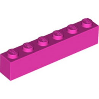 LEGO 6251851 BRIQUE 1X6 - ROSE