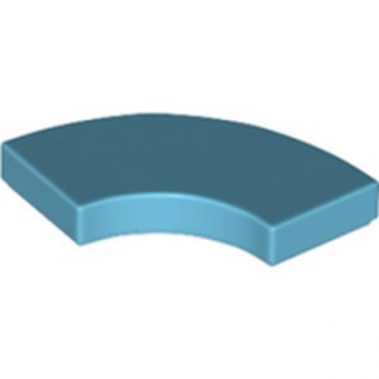 LEGO 6258069 PLATE LISSE 2X2 1/4 ROND - MEDIUM AZUR