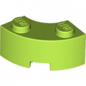 LEGO 6251845 BRIQUE 2X2W.INSIDE AND OUTS.BOW - BRIGHT YELLOWISH GREEN