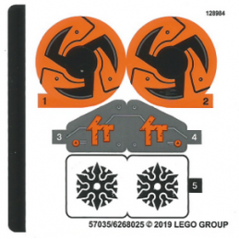 Stickers / Autocollant Lego Ninjago 70672