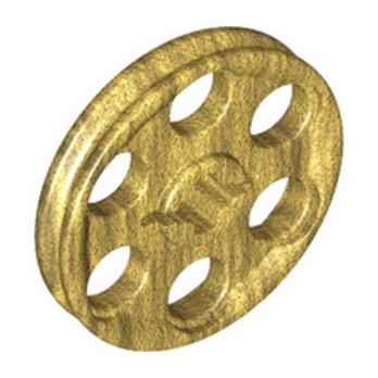 LEGO 6257902 WEDGE-BELT WHEEL 3X3 Ø24 - WARM GOLD