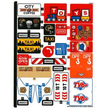 Stickers / Autocollant Lego City 60233