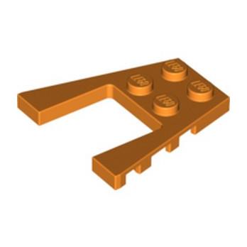 LEGO 6227177 PLATE 4X4 W/ANGLE - ORANGE