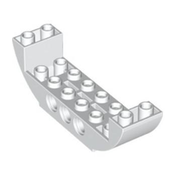 LEGO 6265642 BOW BOTTOM 2X8X2 Ø4.85  - BLANC