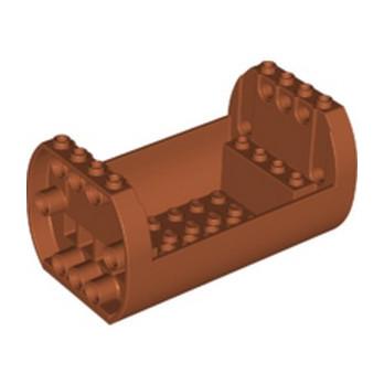 LEGO 6265684 SHELL 6X10X4 1/3, OUTSIDE BOW - DARK ORANGE