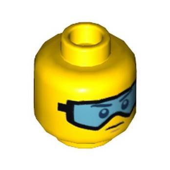 LEGO 6210383 TÊTE HOMME / LUNETTE BLEU