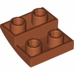 LEGO 6265679 BRIQUE 2X2X2/3, INVERTED BOW - DARK ORANGE