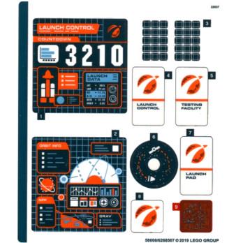 Stickers / Autocollant Lego City 60228