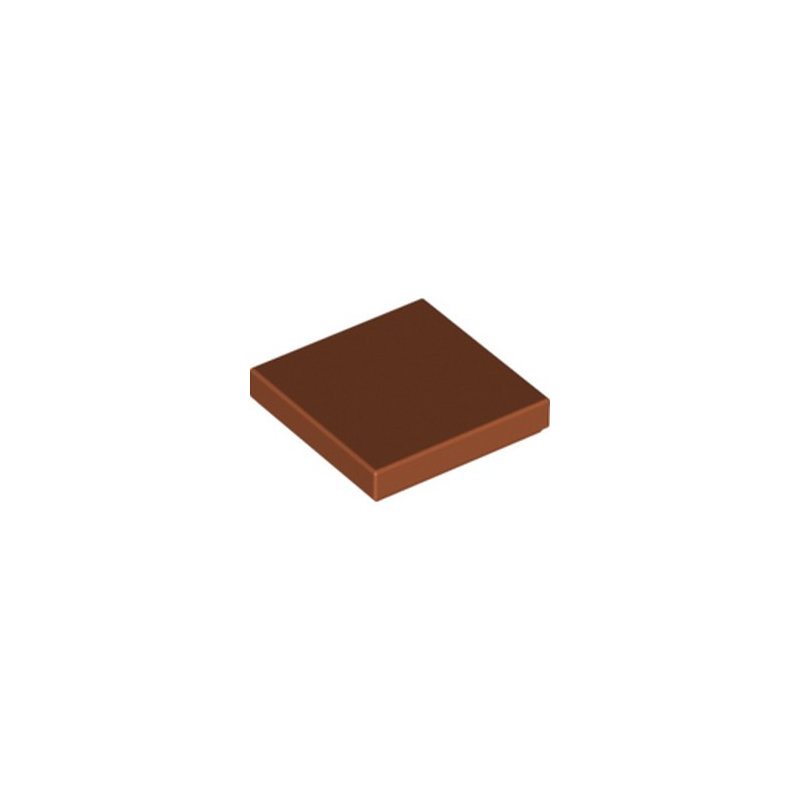 LEGO 6186423 PLATE LISSE 2X2 - DARK ORANGE