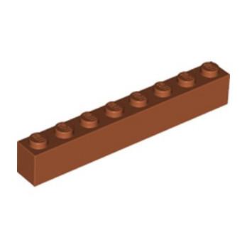 LEGO 6264069  BRIQUE 1X8 - DARK ORANGE