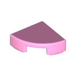 LEGO 6240463 PLATE LISSE 1/4 ROND 1X1 - ROSE CLAIR