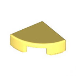 LEGO 6228969 PLATE LISSE 1/4 ROND 1X1 - COOL YELLOW
