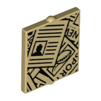 LEGO 6275973 VITRE POUR FENETRE 1X2X2 IMPRIME - BEIGE
