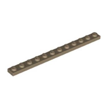 LEGO 6275088 PLATE 1X12 - SAND YELLOW lego-6275088-plate-1x12-sand-yellow ici :