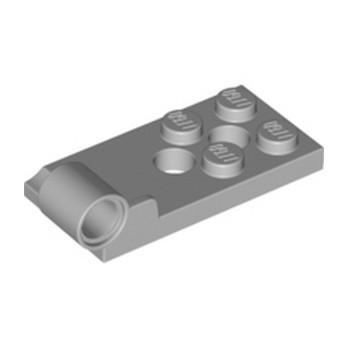 LEGO 4646512 H. PLATE BOT. 2X4 W. ø4.85 H - MEDIUM STONE GREY