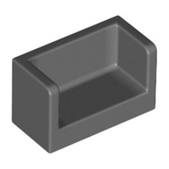 LEGO 6275131 CLOISON 1X2X1- DARK STONE GREY