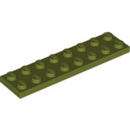 LEGO 6273296 PLATE 2X8 - OLIVE GREEN
