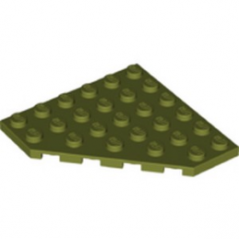 LEGO 6272101 CORNER PLATE 6X6X45° - OLIVE GREEN