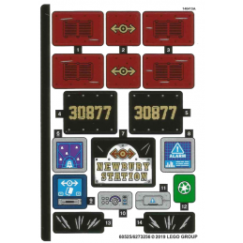 Stickers / Autocollant Lego Ninjago 70424
