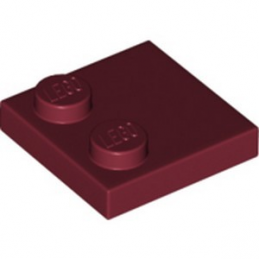 LEGO 6214309 PLATE 2X2 - NEW DARK RED