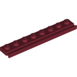LEGO 6273164 PLATE 1X8 / RAIL - NEW DARK RED