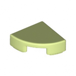 LEGO 6240468 PLATE LISSE 1/4 ROND 1X1 - SPRING YELLOWISH GREEN