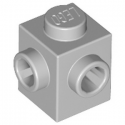LEGO 6267495 BRIQUE 1X1, W/ 2 KNOBS - MEDIUM STONE GREY